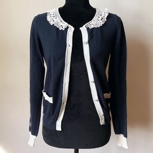 FOREVER 21 lace collar cardigan
